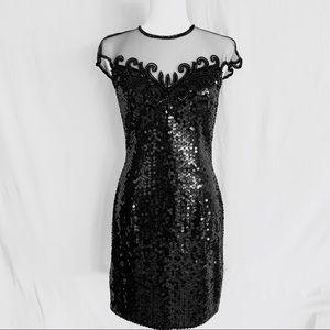 NITELINE Vintage Beaded and Sequin Dress Sz 8